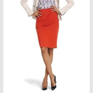 Cabi Orange Overlay Pencil Skirt 6